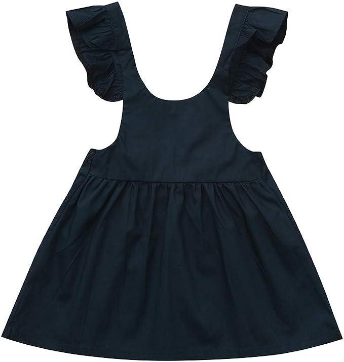 Baby Girls Summer Sundress Clothes Set 0-4 Years Todder Newborn Girl Cartoon Floral Dresses Sleeveless Skirt