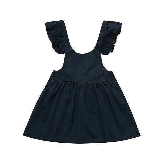 c57005daaf Amazon.com  GoodLock Baby Girls Dresses Toddler Kids Fly Sleeve Summer  Overall Skirt Princess Dresses Clothes  Clothing