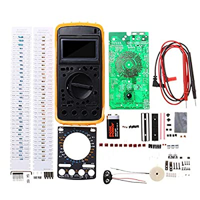 Digital Multimeter Learning Kit Portable Students DIY Electronic Production Training Kit AC/DC Voltage Current 9205A: Industrial & Scientific