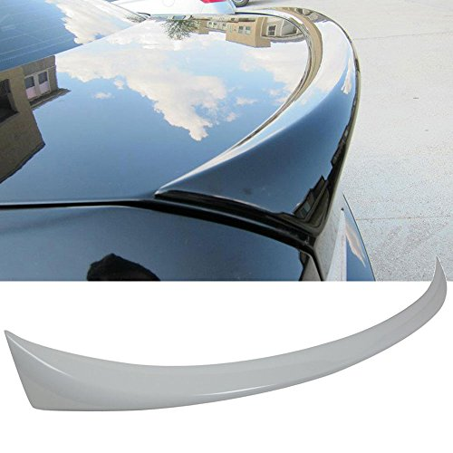 Pre-painted Trunk Spoiler Fits 2006-2011 BMW E90 | Factory Style ABS Painted # 300 Alpine White Rear Tail Lip Deck Boot Wing Other Color Available By IKON MOTORSPORTS | 2007 2008 2009 2010