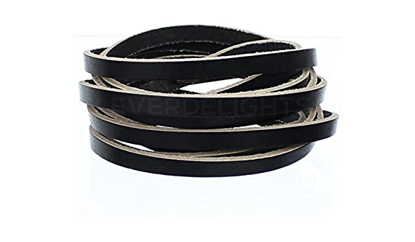 Brown CleverDelights Premium Cowhide Leather Strap 5oz Genuine Leather Jewelry Craft Supply 1 x 36