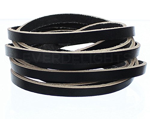 5oz Genuine Leather Black 1//4 x 84 Jewelry Craft Supply CleverDelights Premium Cowhide Leather Strap