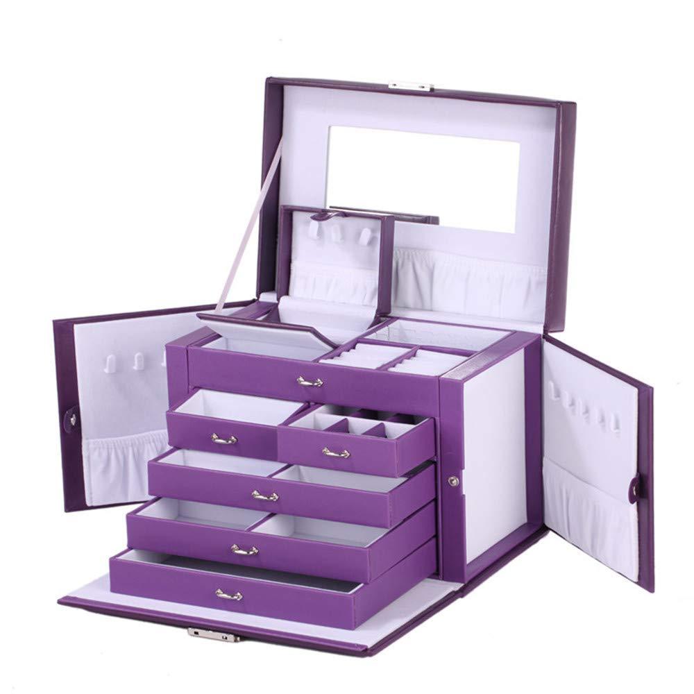 ROWLING Schmuckkasten mit Spiegel und Mini-Box Schmuckkasten mit 5 Schubladen