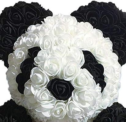 PQZATX Flores de Rosa Panda Panda Blanco y Negro con Corbata ...