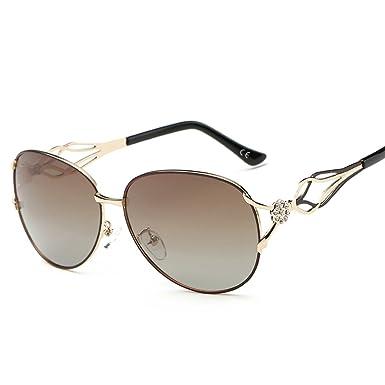 Leben neue Damen Designer-Sonnenbrille UV400-Schutz, polarisierte Sonnenbrille Oversize