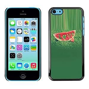 Be Good Phone Accessory // Dura Cáscara cubierta Protectora Caso Carcasa Funda de Protección para Apple Iphone 5C // Fruit Macro Love Watermelon