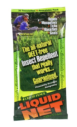 (Liquid Fence 145 Liquid Net Ultimate Insect Repellent Towelettes, 30-Count Resealable Pack)