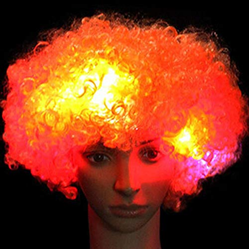Phones & Accessories - Afro Funny Curly Clown Party 70s 80s Wig Disco Circus Costume Dress Up Fancy - Accessories Health Garden Phones Beauty Sports Home Girls Toys Cell Electronics -