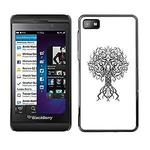 TopCaseStore / la caja del caucho duro de la cubierta de protección de la piel - Minimalist Deep Tree Branch - Blackberry Z10