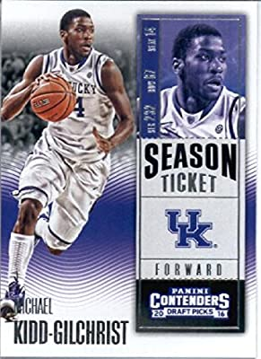 2016-17 Panini Contenders Draft Picks #69 Michael Kidd-Gilchrist Kentucky Wildcats Basketball Card in Protective Screwdown Display Case