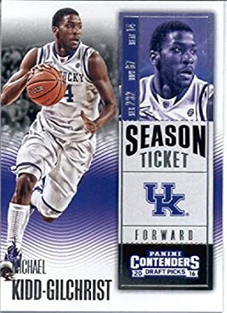 8a0d913a268 Amazon.com  2016-17 Panini Contenders Draft Picks  69 Michael Kidd-Gilchrist  Kentucky Wildcats Basketball Card in Protective Screwdown Display Case  ...