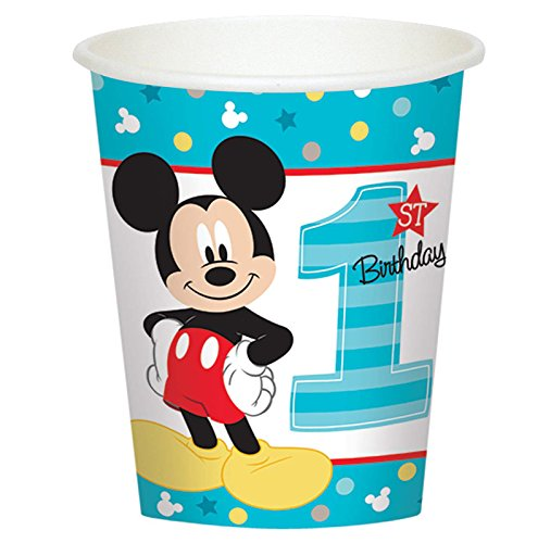 Mickey Mouse 1st Birthday Party Supplies 24 Pack Paper Cups]()
