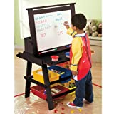 Kids Flip Down Wood Easel/Art Desk Combo in Espresso