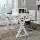 WE Furniture 48'' Storage Computer Desk, White