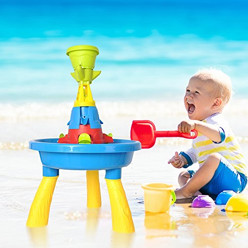 COLORTREE Kids Sand and Water Table Play Fun Waterpark Play Table by COLORTREE