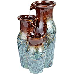 "Mediterranean Jar 11 1/2"" High Ceramic Tabletop Fountain"