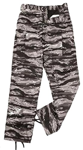 Camouflage Military BDU Pants, Army Cargo Fatigues (Urban Tiger Stripe Camouflage, Size - Urban Bdu Pants Tiger