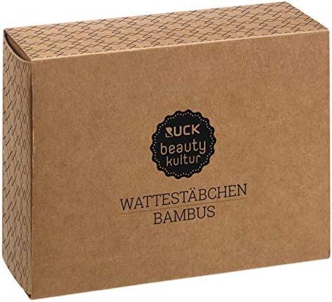 200 St/ück RUCK beautykultur Wattest/äbchen Bambus