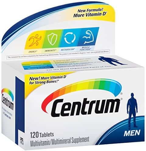 Centrum Men (120 Count) Multivitamin/Multimineral Supplement (Pack of 2)
