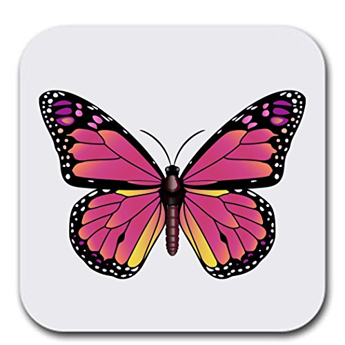 Butterfly Assortment Colorful - Coaster Set of Six - Furniture Gift Coasters for Drinks - Soft Absorbent | Furniture Safe - Set of six (6 pcs) - Gifts Home Office -