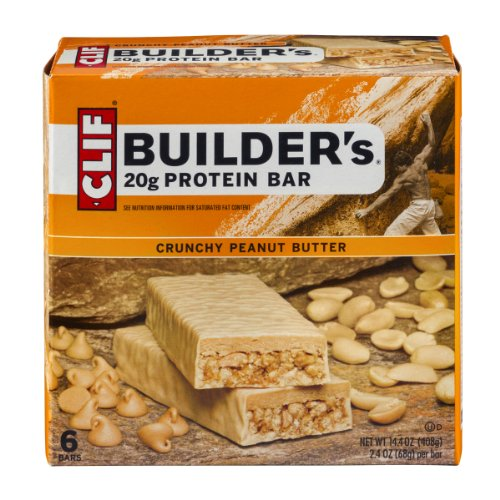 Clif Builder's Crunchy Peanut Butter 20g Protein Bar - 6 CT