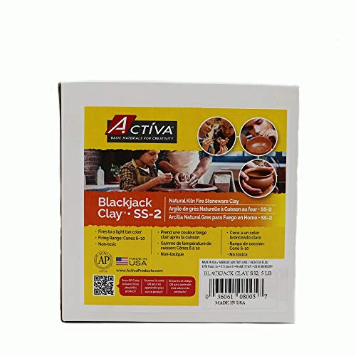 Activa Blackjack Clay, 5-Pound, Dries to Light Tan