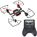 Focus Drone with Camera Live Video - 720p HD Drone Camera and Viewable Handheld Monitor Drone with FPV