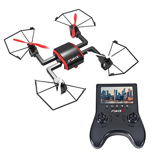 Focus Drone with Camera Live Video - 720p HD Drone Camera and Viewable Handheld Monitor Drone with FPV by Force1