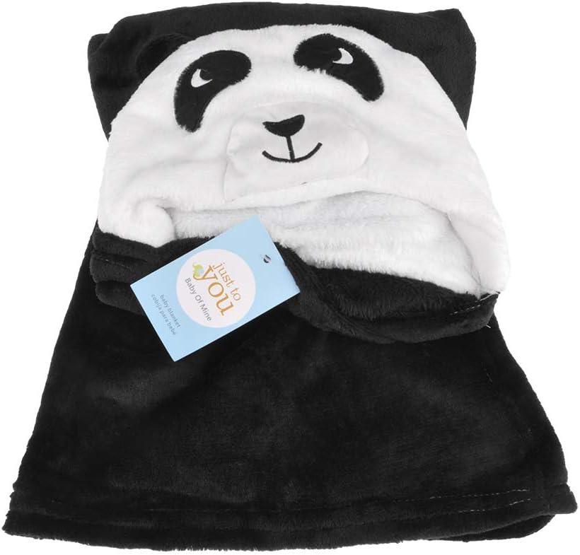 Cape pour Bebe et Enfant GOGOGO Serviette de Bain B/éb/é Panda noir 100 * 96 cm