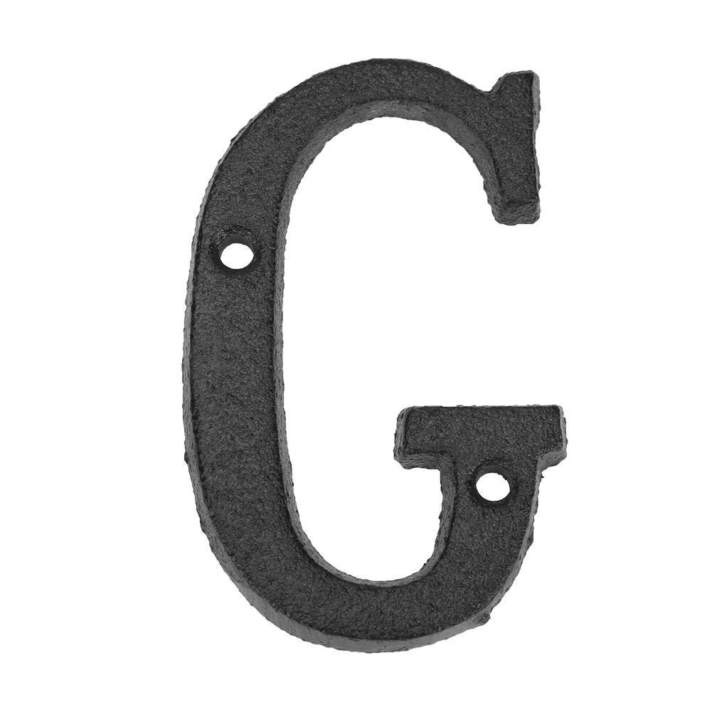 Letras de metal para puerta con n/úmero de casa con tornillos de fijaci/ón Domybest