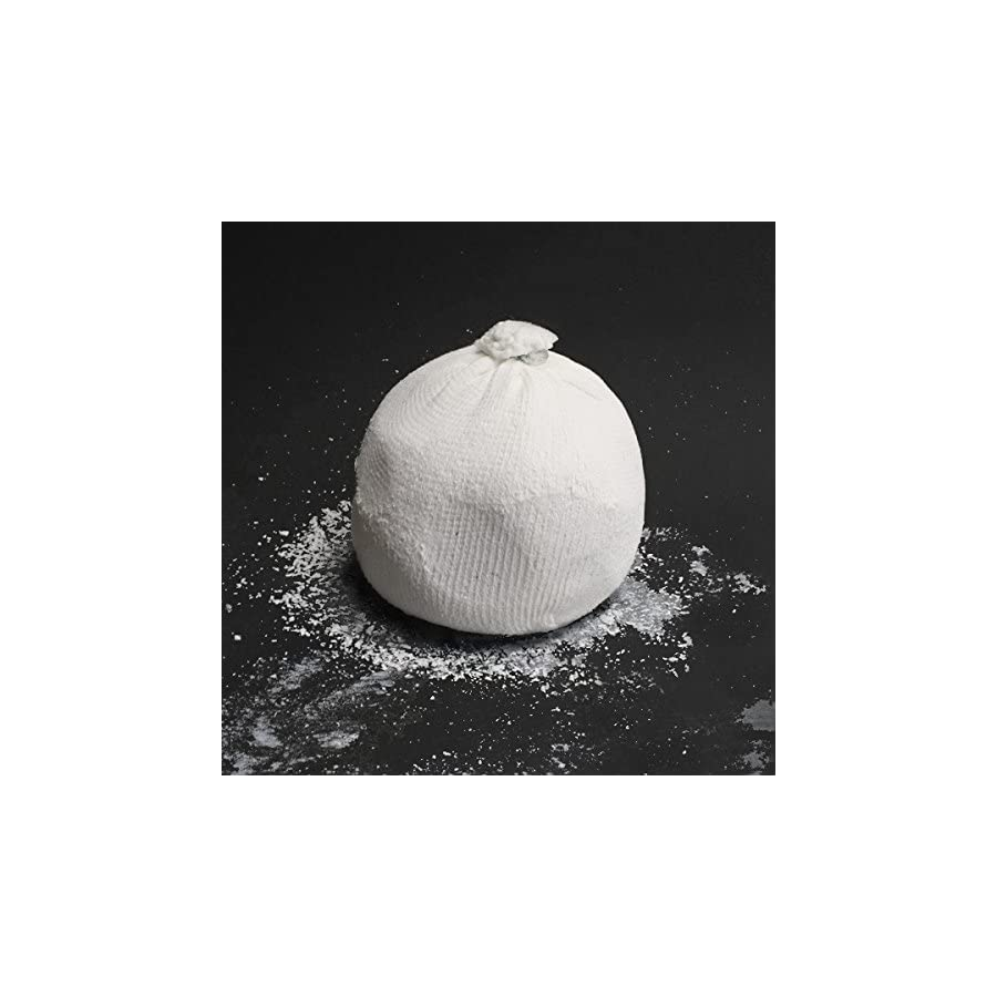 Master of Muscle Chalk Bag Ball Perfect for Rock Climbing, Weight Lifting, Gym, Workout, Gymnastics, and Powerlifting Includes Workout eBook with Elite Lifting Techniques (White)