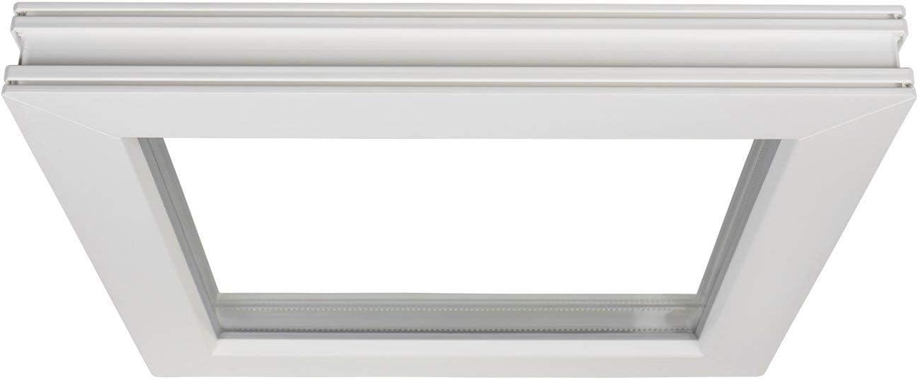 Fenster Kunststoff wei/ß Premium Breite: 40 Kellerfenster Festverglasung 2 Fach Verglasung BxH: 40x65 cm FIB