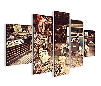 Islandburner Bild Bilder Auf Leinwand Alter Ford T Modell Route 66 MF XXL  Poster Leinwandbild