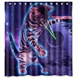 "Space Cat Novelty Shower Curtain (66"" x 72"" )"