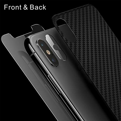 Singularity Products iPhone Xs Max Front Back Screen Protector, Tempered Glass Screen Protectors HD Clear Anti Fingerprint Scratch Textured Back Screen Protector Film Compatible iPhone Xs Max 6.5 ()