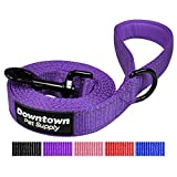 Best Reflective Dog Leash with Padded Handle and Strong Nylon (Color: Purple)