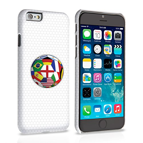 Caseflex iPhone 6 Plus / 6S Plus Hülle Fahnen Weltmeisterschaft Hart Schutzhülle (Kompatibel Mit iPhone 6 Plus / 6S Plus - 5.5 Zoll)