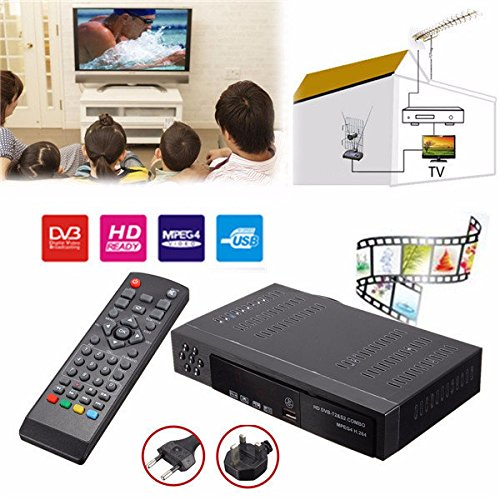 Doradus Full HD 1080P Combo DVB-T2 S2 Video Broadcasting Satellite Receiver Box TV HDTV