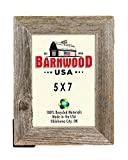 BarnwoodUSA Rustic 5 by 7 Inch Picture Frame with 1.25 Inch Wide Molding - 100% Reclaimed Wood, Weathered Gray