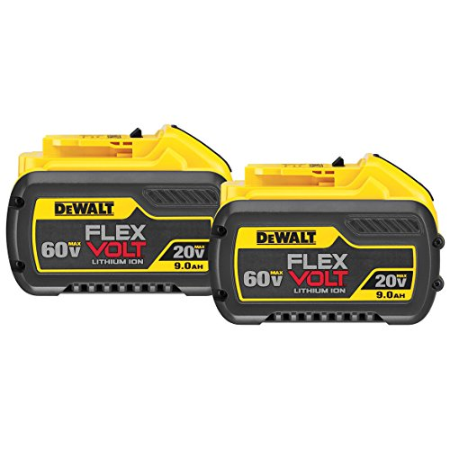 DEWALT DCB609-2 20V/60V MAX FLEXVOLT 9Ah Battery, 2 Pack -