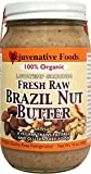 Rejuvenative Foods Certified Organic Pure and Fresh Raw Low-Temp Ground Brazil Nut Butter - 16 oz