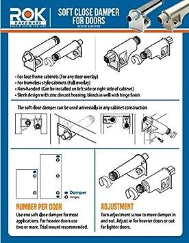 SCD101 Rok Hardware 25 Pack SoftClose for Cabinet Doors//Metal Soft Close Adapter//Damper//Hardware//Zinc//Hinge//European Made