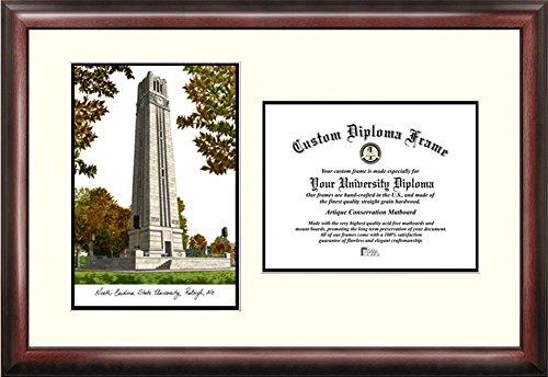 NCSU NC State Wolfpack Mahogany Diploma Frame & Lithograph