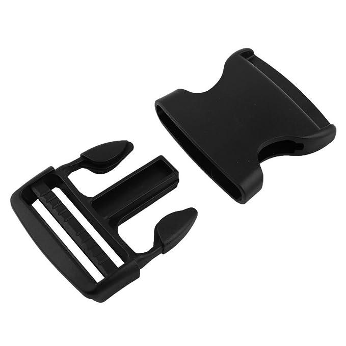 Amazon.com: eDealMax plástico Mochila Correa Cinturón de Banda lateral Hebilla del lanzamiento rápido 3pcs Negro