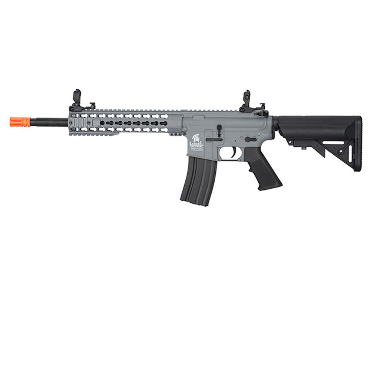 UKARMS Lancer Tactical M4 KEYMOD AEG FIELD Metal Gears Airsoft Gun Rifle w/9.6v Battery & Charger (Grey High Velocity) by UKARMS