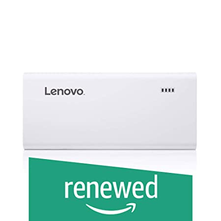 Renewed  Lenovo PA10400 10400mAh Powerbank   White Power Banks
