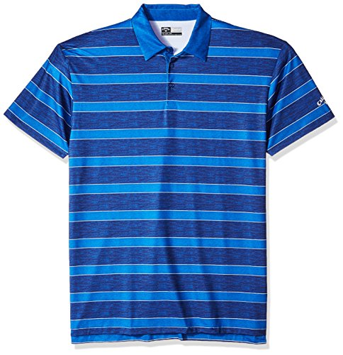 Tall Opti-Stretch Short Sleeve Heather Printed Rugby Striped Polo, XLT, Surf Heather (Callaway Golf Jersey)