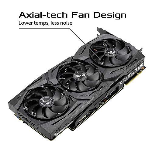 Asus Rog Strix Geforce Rtx 2080 Super Oc Edition 8gb Gddr6 Tarjeta Grafica Ventiladores Axial Tech Dual Bios Auto Extreme Sap Ii Maxcontact Gpu Tweak Ii Aura Sync Fanconnect Ii