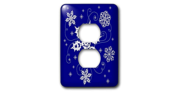 3drose Lsp 11680 6 This Artwork Features Some Pretty Swirling Snowflakes On A Lovely Blue Background 2 Plug Outlet Cover Outlet Plates Amazon Com