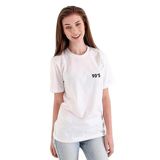 4957fae3c22497 Bravetoshop Women Loose Short Sleeve 90'S Printed T-Shirt Casual Blouse Tops  Fashion